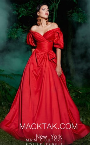 MNM 2488 Red Front Evening Dress