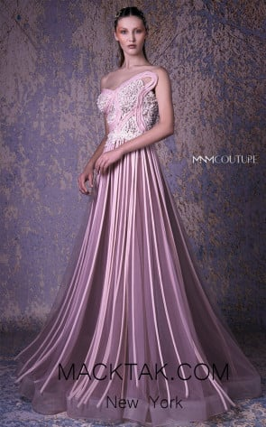 MNM G1013 Blush Front Evening Dress