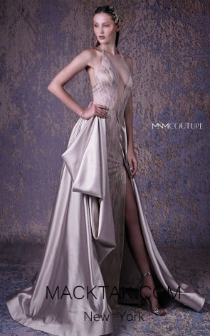 MNM G1030 Beige Front Evening Dress