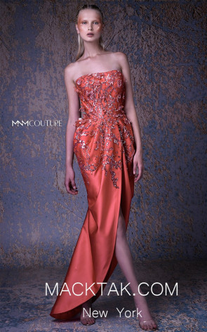 MNM G1050 Coral Front Evening Dress