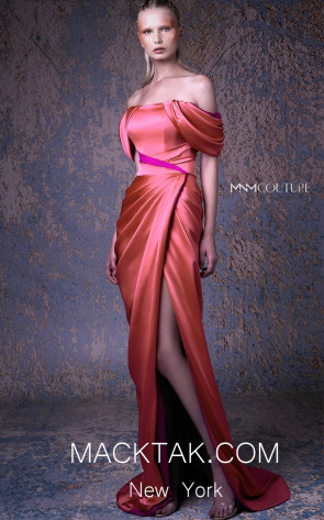 MNM G1052 Fuchsia Front Evening Dress