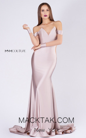 MNM L0044S Blush Front Evening Dress