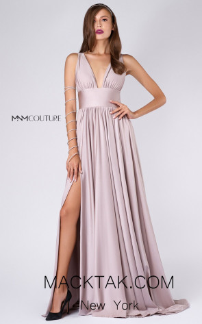 MNM L0051 Blush Front Evening Dress