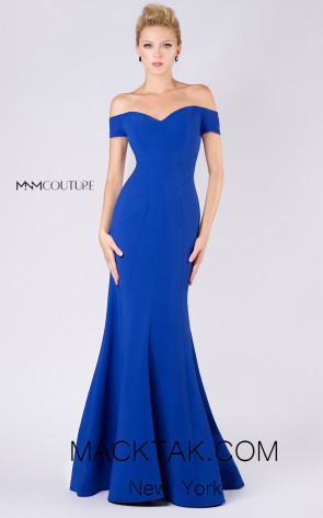 MNM M0005 Navy Blue Front Evening Dress