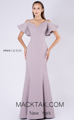 MNM M0035 Beige Front Evening Dress