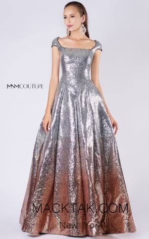 MNM M0052 Silver Front Evening Dress