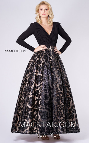 MNM M0064 Black Front Evening Dress