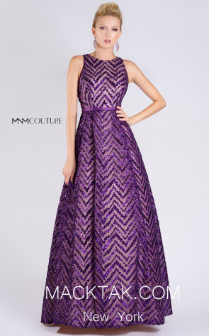 MNM M0065 Purple Front Evening Dress
