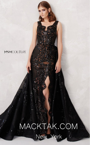 MNM N0272 Black Front Evening Dress