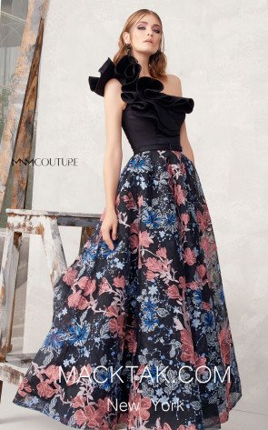 MNM N0274 Multicolor Front Evening Dress