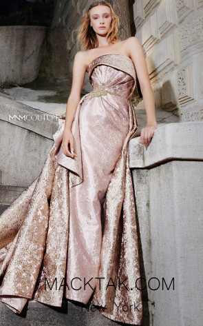 MNM N0286 Gold Front Evening Dress