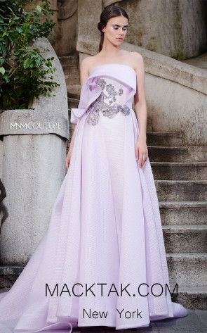 MNM N0304 Pink Front Evening Dress
