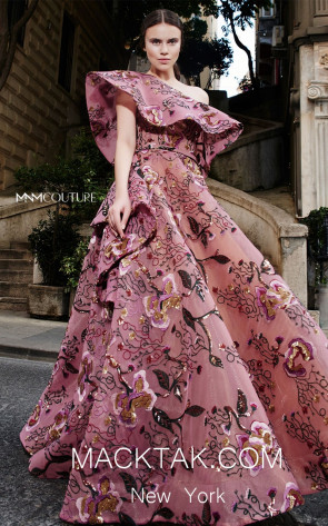 MNM N0307 Pink Front Evening Dress