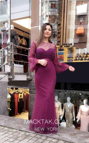TK MT3982 Purple Front Prom Dress
