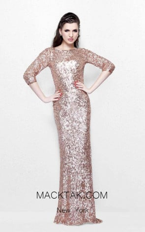 Primavera Couture 1258 Rose Gold Front Dress