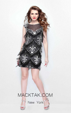 Primavera Couture 1658 Black Front Dress