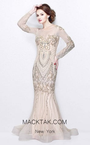 Primavera Couture 1701 Nude Front Dress
