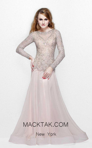 Primavera Couture 1751 Nude Front Dress