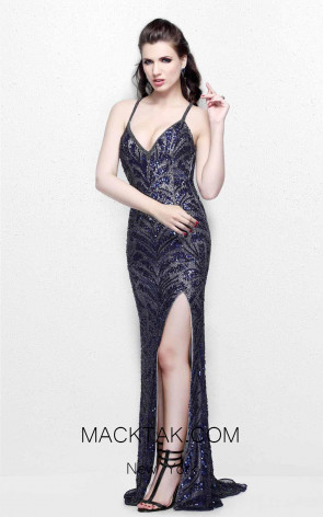 Primavera Couture 1817 Midnight Front Dress