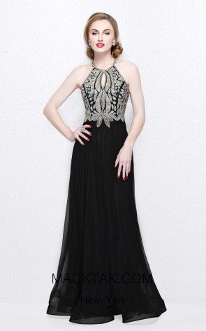 Primavera Couture 1860 Black Front Dress