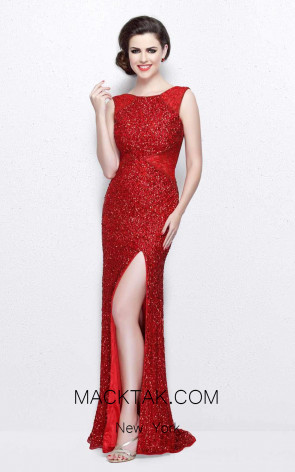 Primavera Couture 1877 Red Front Dress