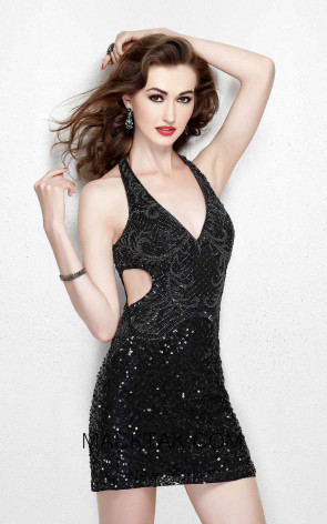 Primavera Couture 1913 Black Pink Front Dress