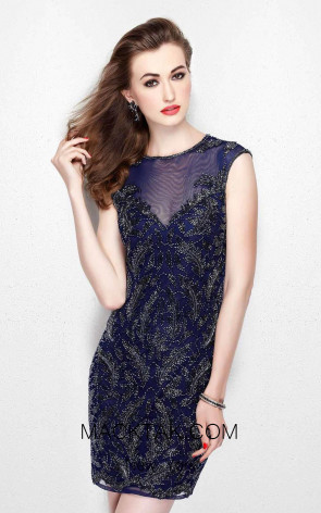 Primavera Couture 1930 Midnight Front Dress
