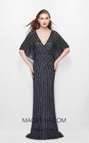 Primavera Couture 1987 Charcoal Front Dress