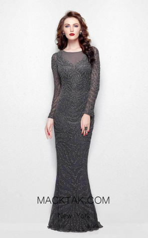 Primavera Couture 1996 Charcoal Front Dress