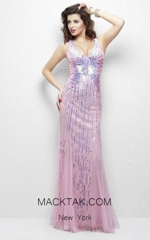Primavera Couture 9874 Pink Front Dress