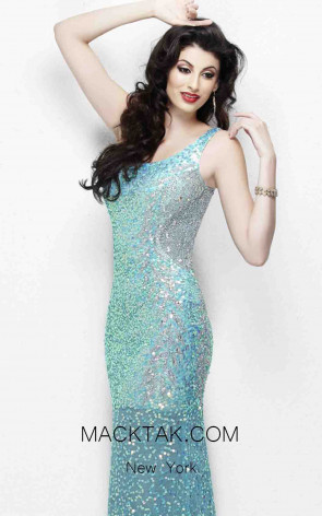 Primavera Couture 9988 Aqua Front Dress
