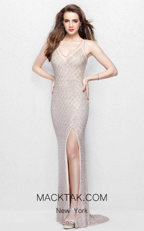 Primavera Couture 3017 Blush Front Dress