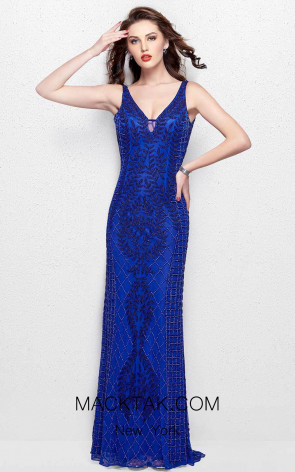 Primavera Couture 3028 Blue Front Dress