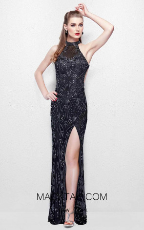 Primavera Couture 3050 Black Front Dress
