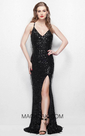 Primavera Couture 3053 Black Front Dress