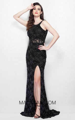 Primavera Couture 3062 Black Front Dress