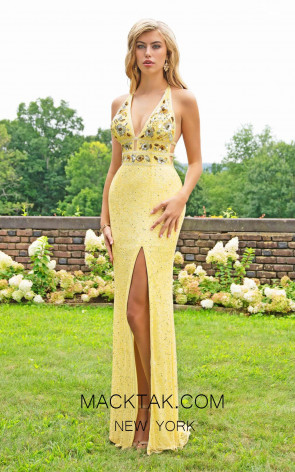 Primavera Couture 3216 Front Yellow Dress