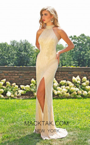 Primavera Couture 3218 Front Nude Dress