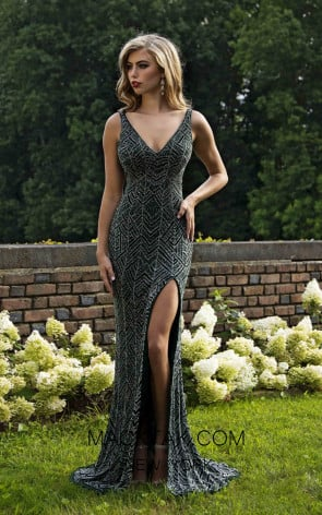 Primavera Couture 3228 Front Forest Green Dress