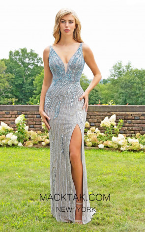 Primavera Couture 3230 Front Platinum Ombre Dress