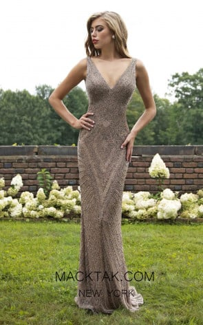Primavera Couture 3234 Front Sand Dress