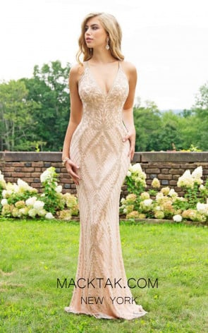 Primavera Couture 3236 Front Rose Gold Dress