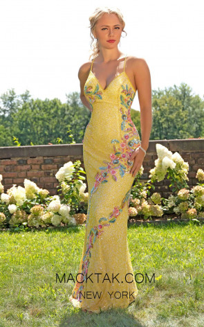 Primavera Couture 3243 Front Yellow Dress