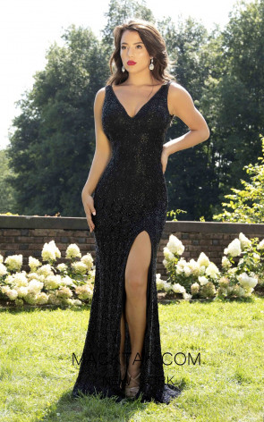 Primavera Couture 3248 Front Black Dress