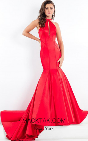 Rachel Allan 5949 Red Front Evening Dress