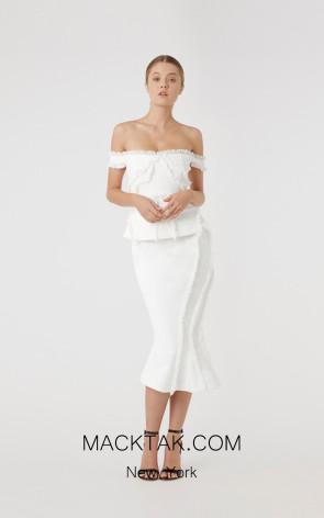 Rachel Gilbert RG30131 Ivory Front Evening Dress