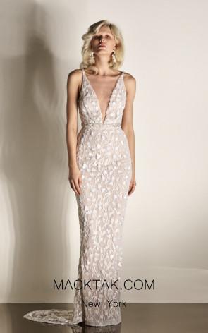 Rachel Gilbert RG60433 Ivory Front Evening Dress