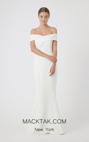 Rachel Gilbert RG60488 Ivory Front Evening Dress