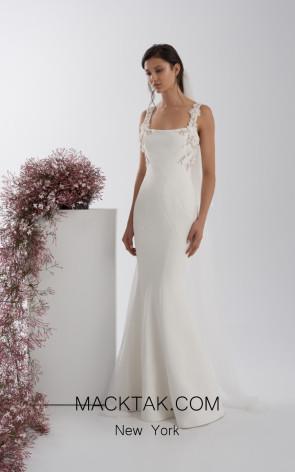 Rachel Gilbert RG60562 Ivory Front Evening Dress