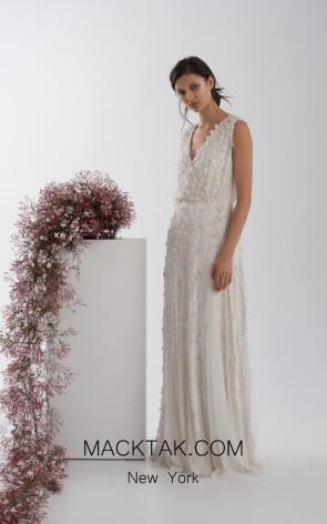Rachel Gilbert RG60564 Ivory Front Evening Dress